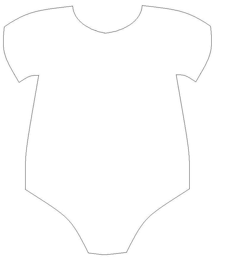 Free baby onesie cut out template baby de anel for Baby shower decoration templates