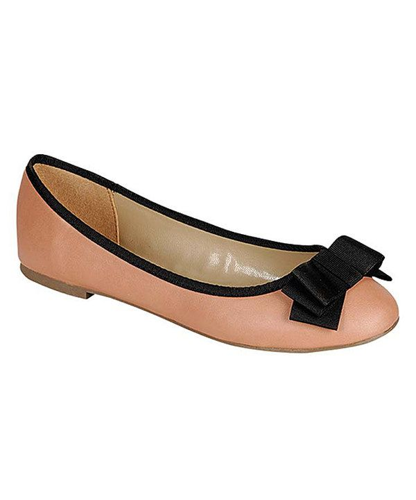 Another great find on #zulily! Breckelle's Nude & Black Alice Flat by Breckelle's #zulilyfinds