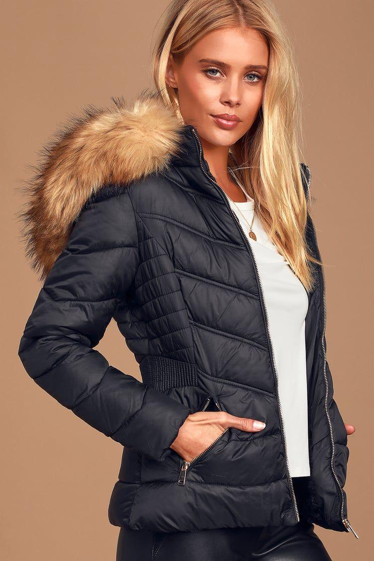 Secret Trails Black Fitted Puffer Jacket Puffer Jacket Women Puffer Jacket Outfit Puffer Jackets [ 1125 x 750 Pixel ]
