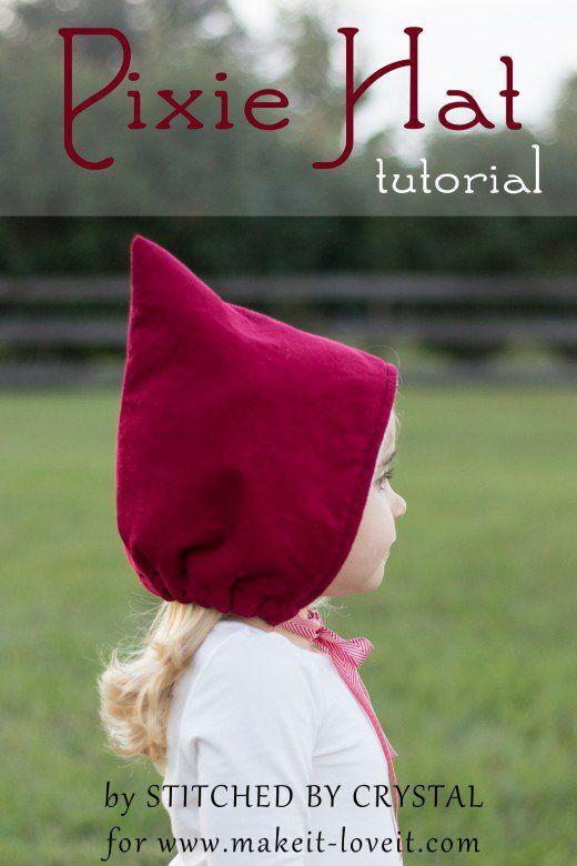 Sew a Pixie Hat/Bonnet for Winter