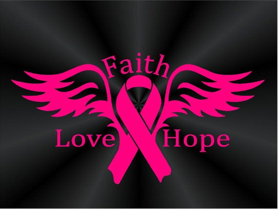 Breast Cancer Awareness Support Angel Of Faith Love Hope Ribbon