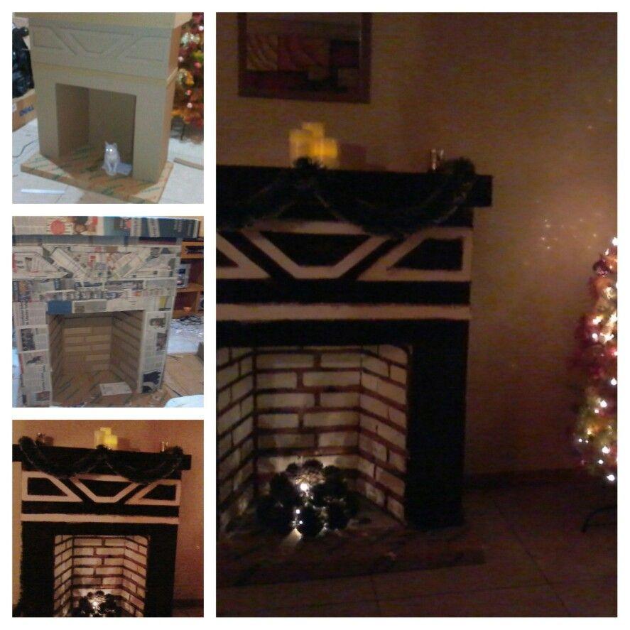 Chimenea de carton navidad pinterest - Como construir una chimenea paso a paso ...