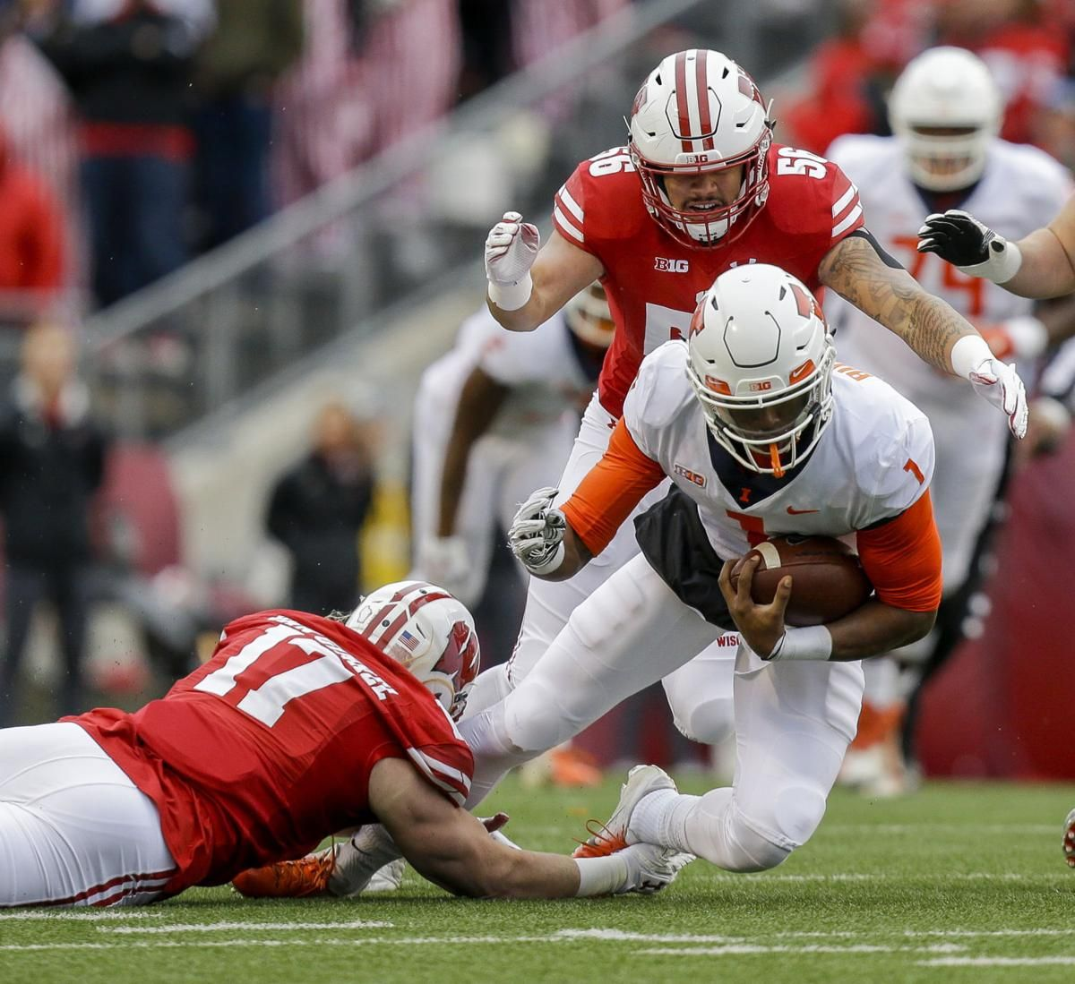 Taylor and Deal carry No. 23 Wisconsin past Illinois 4920