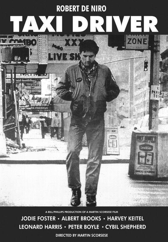 Taxi Driver Movie Poster Robert Deniro Travis Bickle Iconic Movie Posters Taxi Driver Martin Scorsese