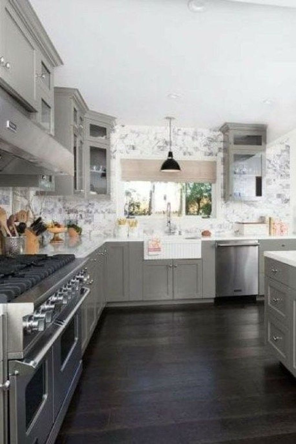 9 Stunning Dark Wood Floor Ideas Kitchen   Grey wood floors ...