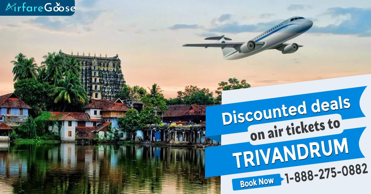 Grab discounted deals on air tickets to #Trivandrum with #Airfaregoose. Check offers to find the lowest airfare flights to your favourite #destinations. Hurry! Book now!  For more information, call us at -1-888-275-0882 (Toll-Free).  #Travel #explore #TrivandrumBeauty #Nature #visittrivandrum #indiantourism #incredibleindia #visitindia #CheapFlightDeals #flightbookingonline #toursandtravelism #traveltips #travelling