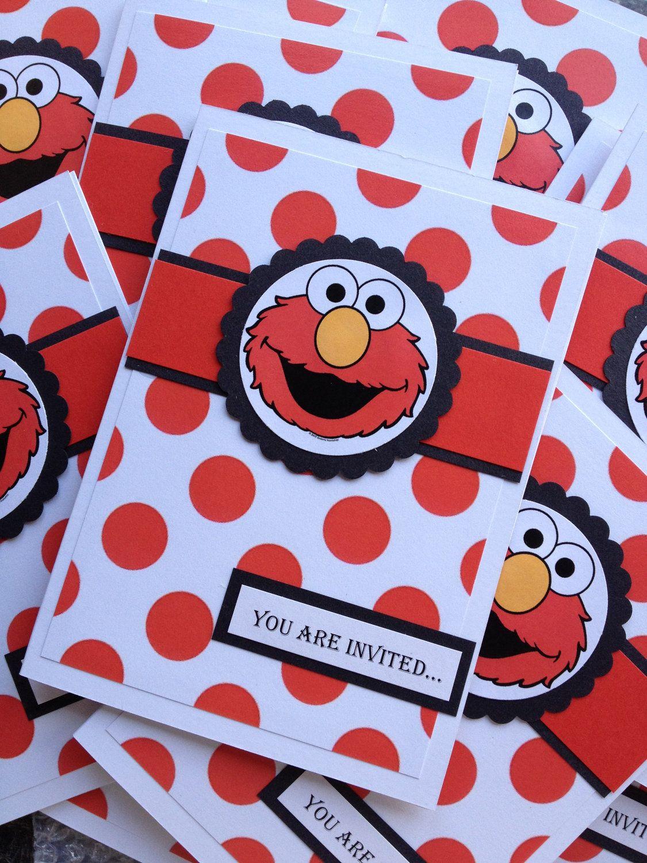 Handmade Elmo Party Invitations Envelopes By Be4Utifullyunique 500
