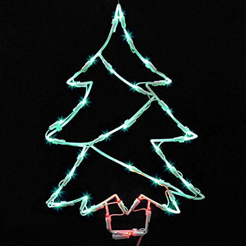 northlight seasonal lighted led christmas tree window silhouette decoration 18