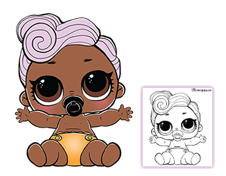 Color Your Favorite Lol Surprise Doll Lol Dolls Coloring Pages Dog Coloring Page