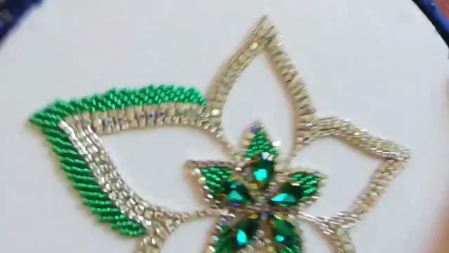 Hand Embroidery Beads Work; Flower Embroidery With Beads  Bordado De Flores Com Miçangas