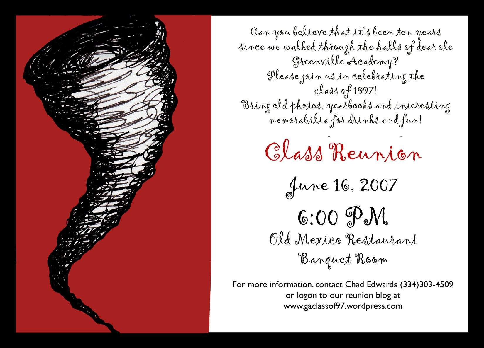 10 Year Reunion Invitation Reunion Invitations Class Reunion Class Reunion Invitations