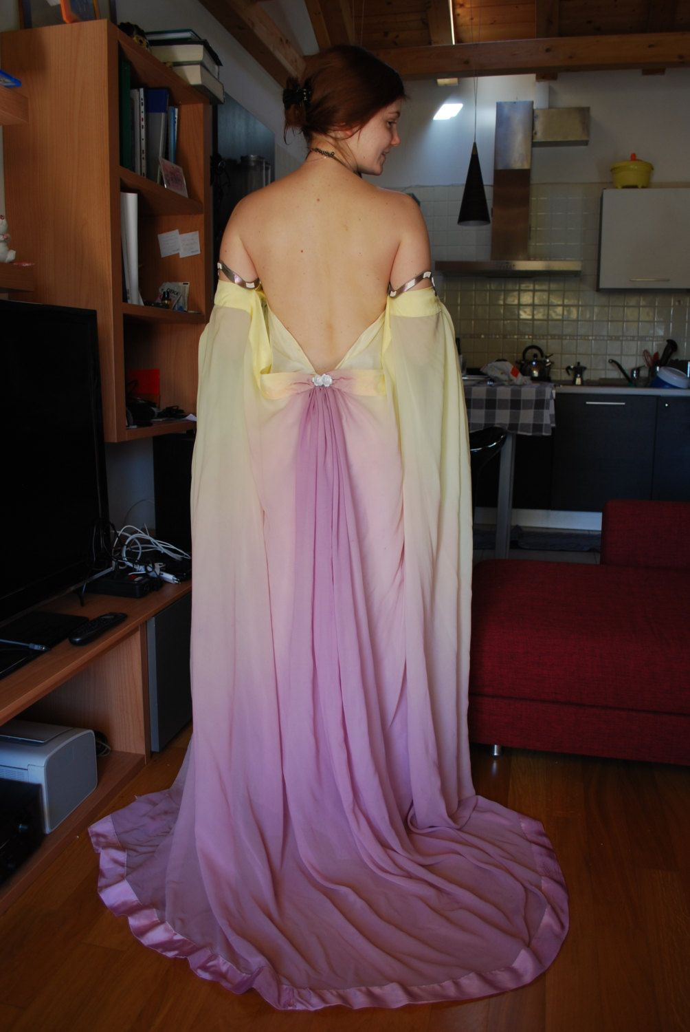 Padmé lake pastel rainbow gown costume by Grimildesmirror on Etsy ...