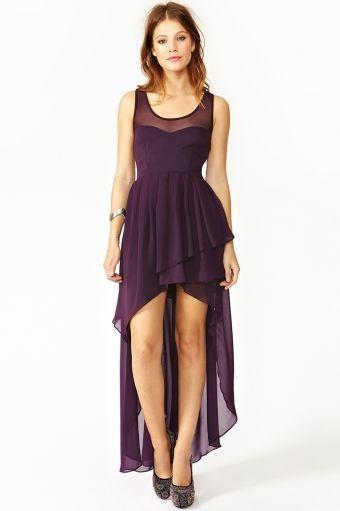 Cascading Chiffon Dress