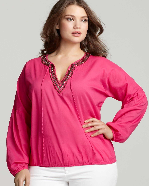 MICHAEL Michael Kors Plus Size Embellished Tunic $110.00 | r+a ...