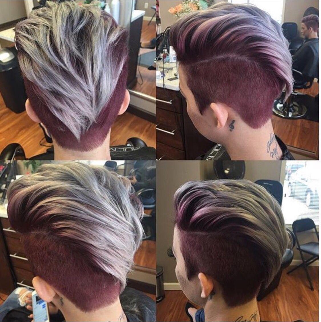 Blonde u burgundy uc hairstyles pinterest blondes hair