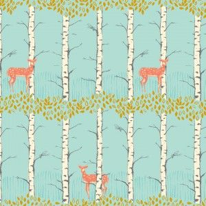 Timber and leaf collection. Fabric by Sarah Watts.