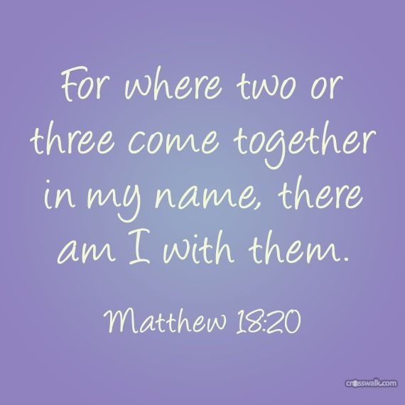 Image result for for where two or three come together in my name