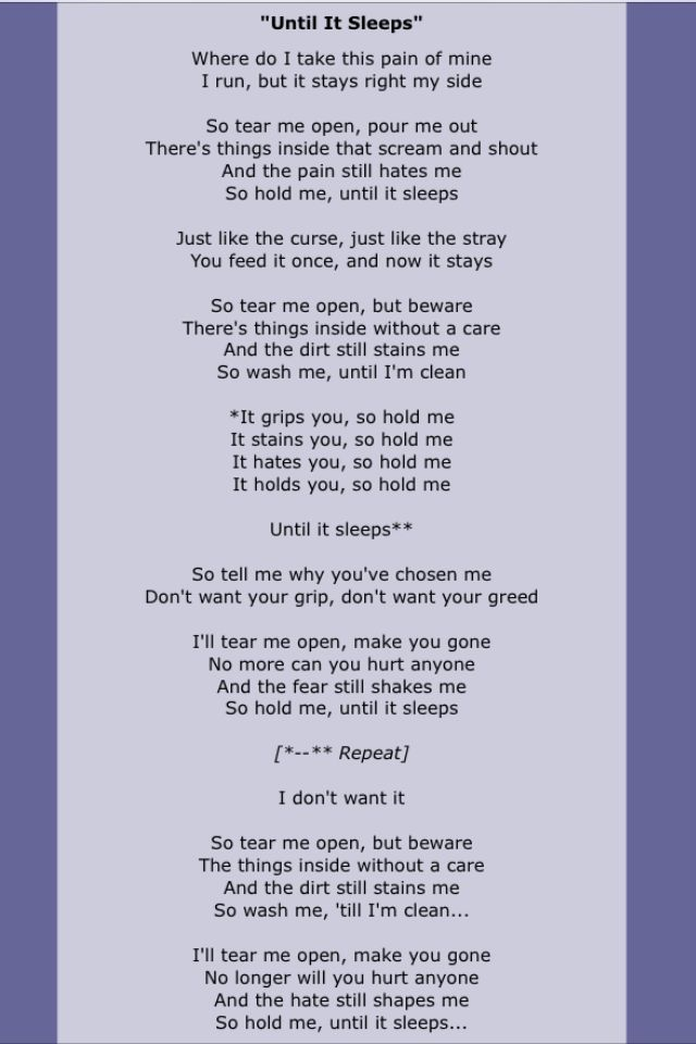 Metallica The Meaning Behind This Song Is Heavy Great Song