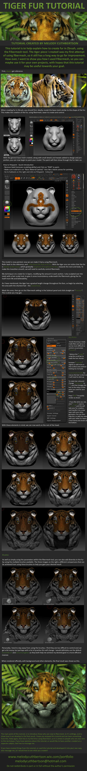 Zbrush Fur Tutorial by RedVanda on DeviantArt