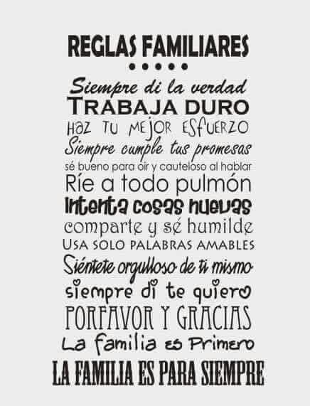 Familiares Reglas Familiares Frases Familiares Y Reglas