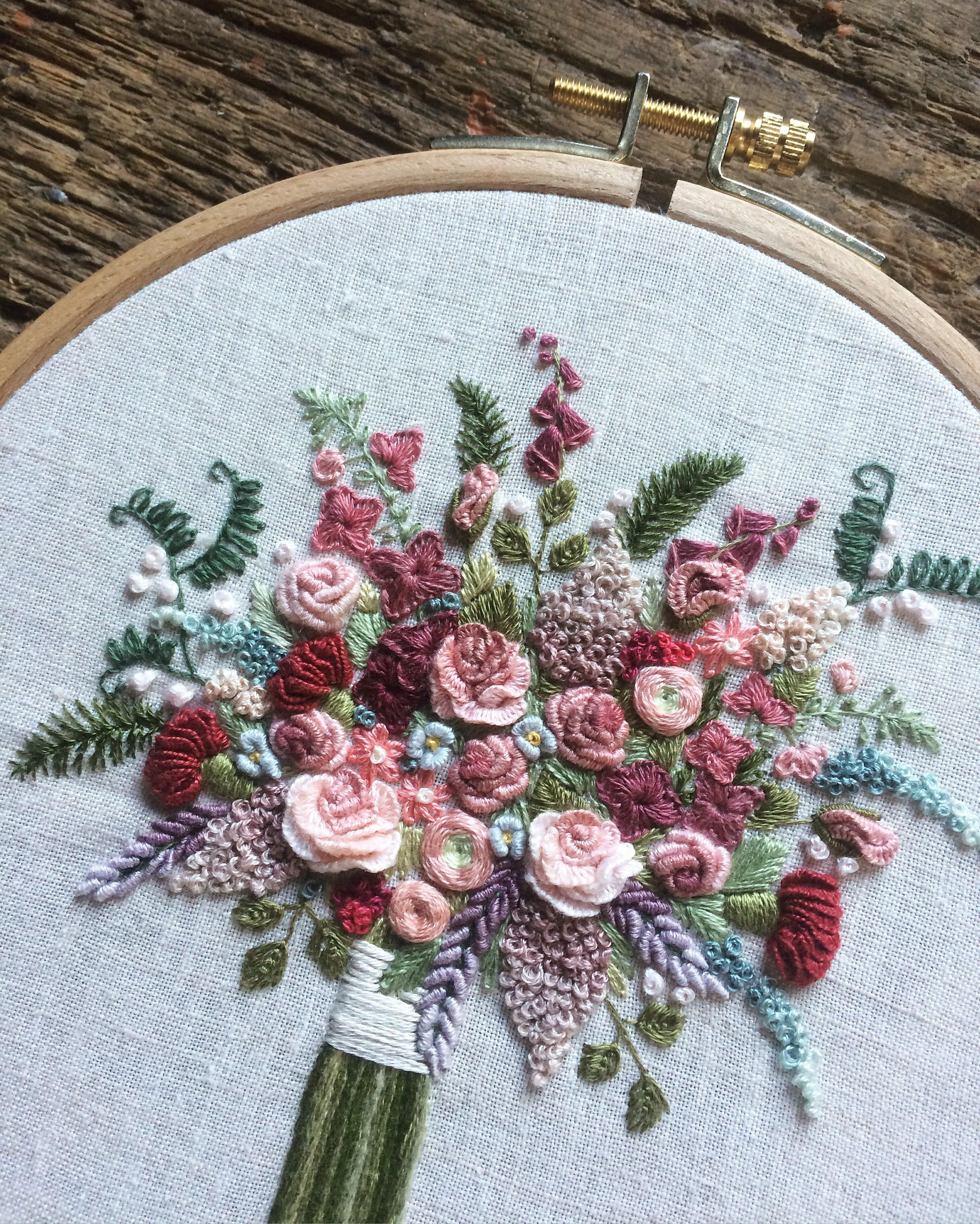 My embroidery #silkribbonembroiderypatterns
