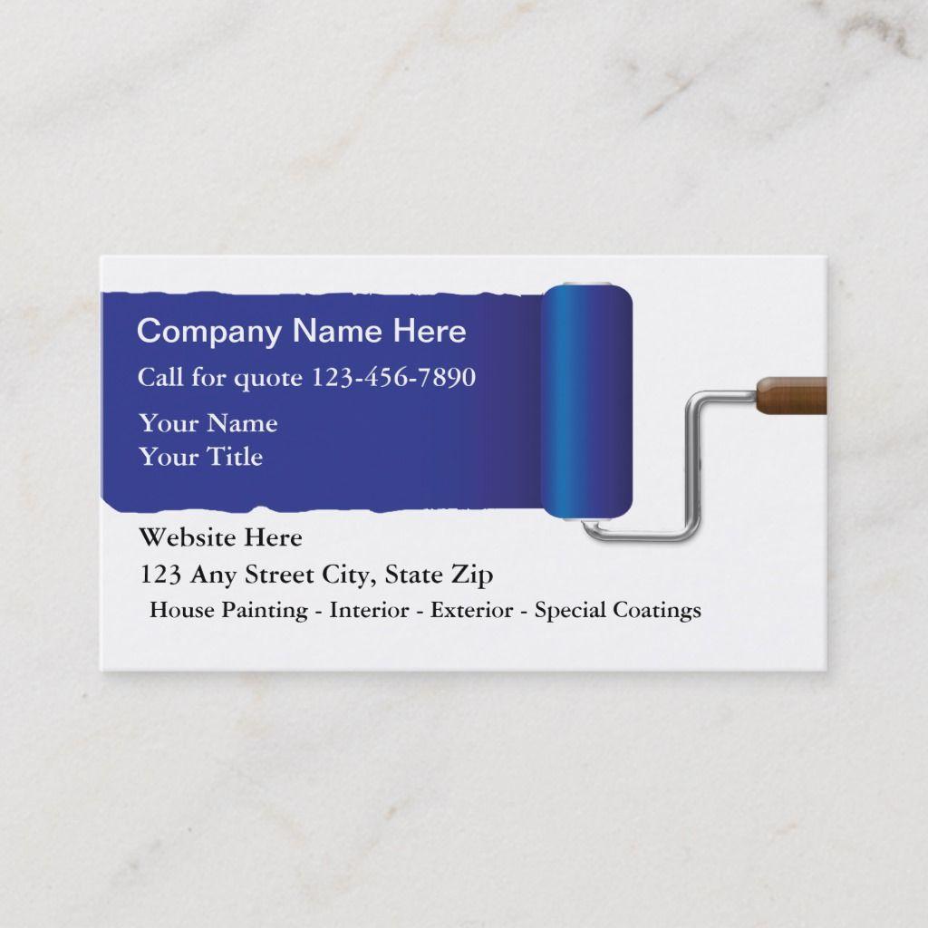 Painter Business Cards Zazzle Com Painter Business Card Cool Business Cards Cards
