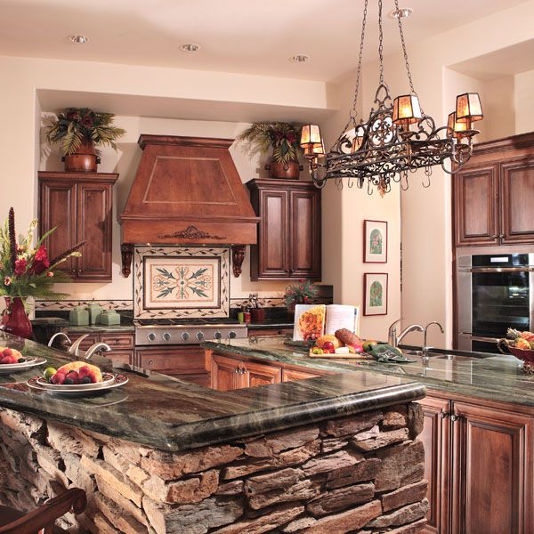 Kitchen With Old World Style With Images Tuscan Decorating