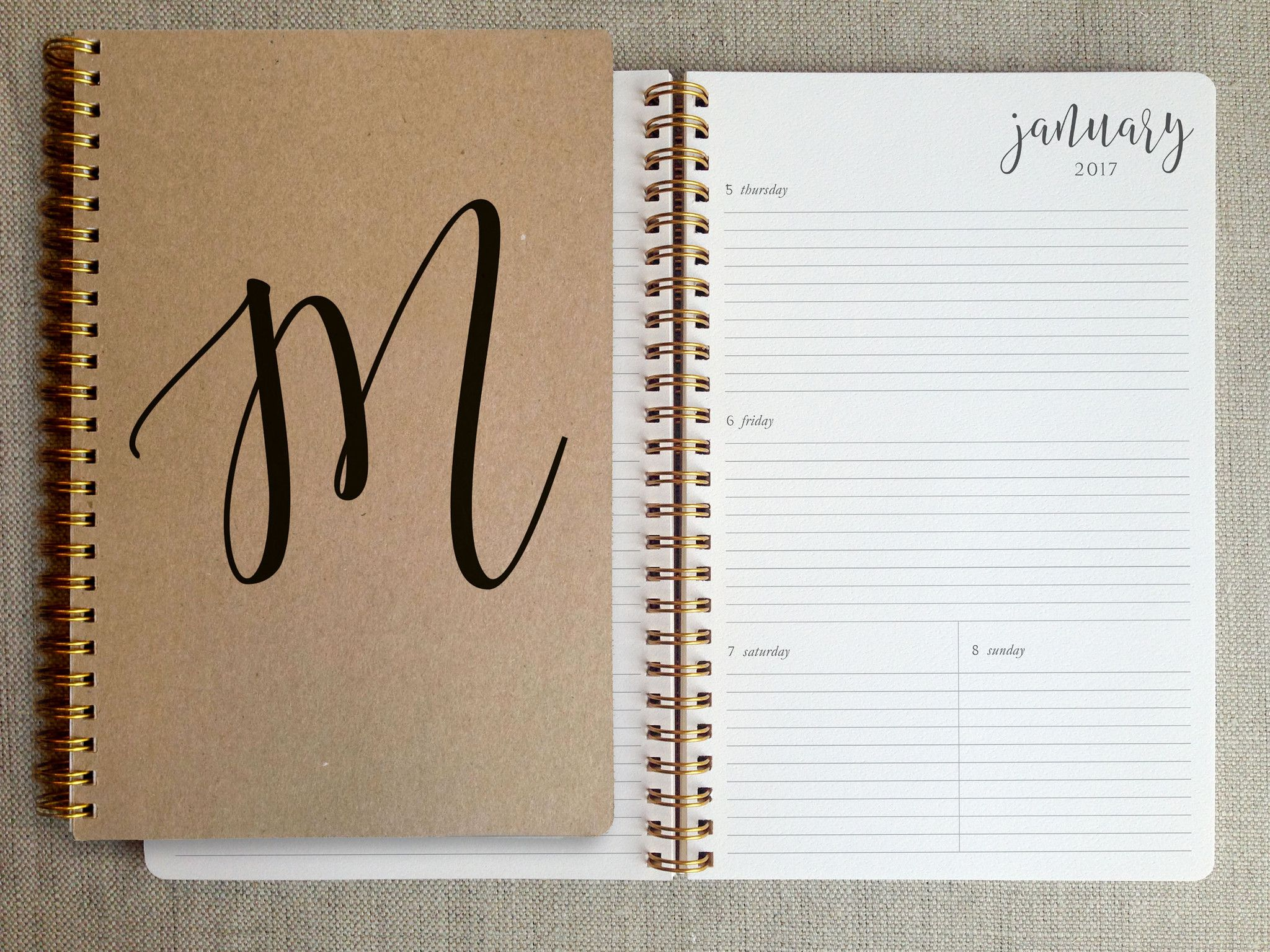 2018 planner agenda book personalized