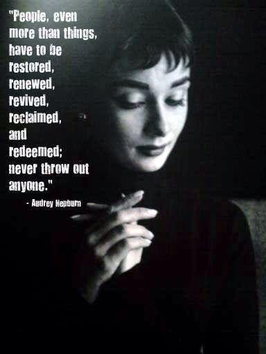 Audrey is always inspiring!