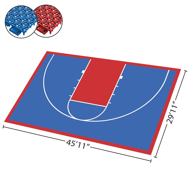 Half Court Diy Backyard Basketball System Sam S Club In 2020 Backyard Basketball Diy Backyard Basketball Court Backyard