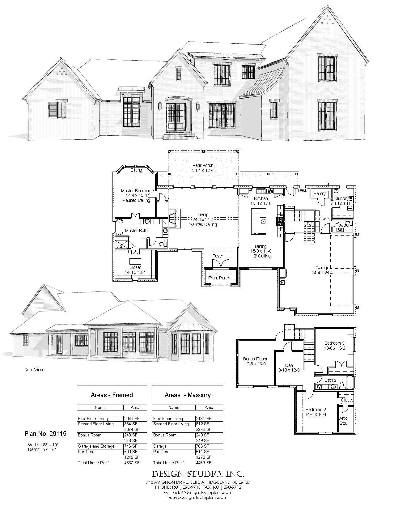 Plan 29115 Design Studio Family House Plans House Blueprints 5 Bedroom House Plans