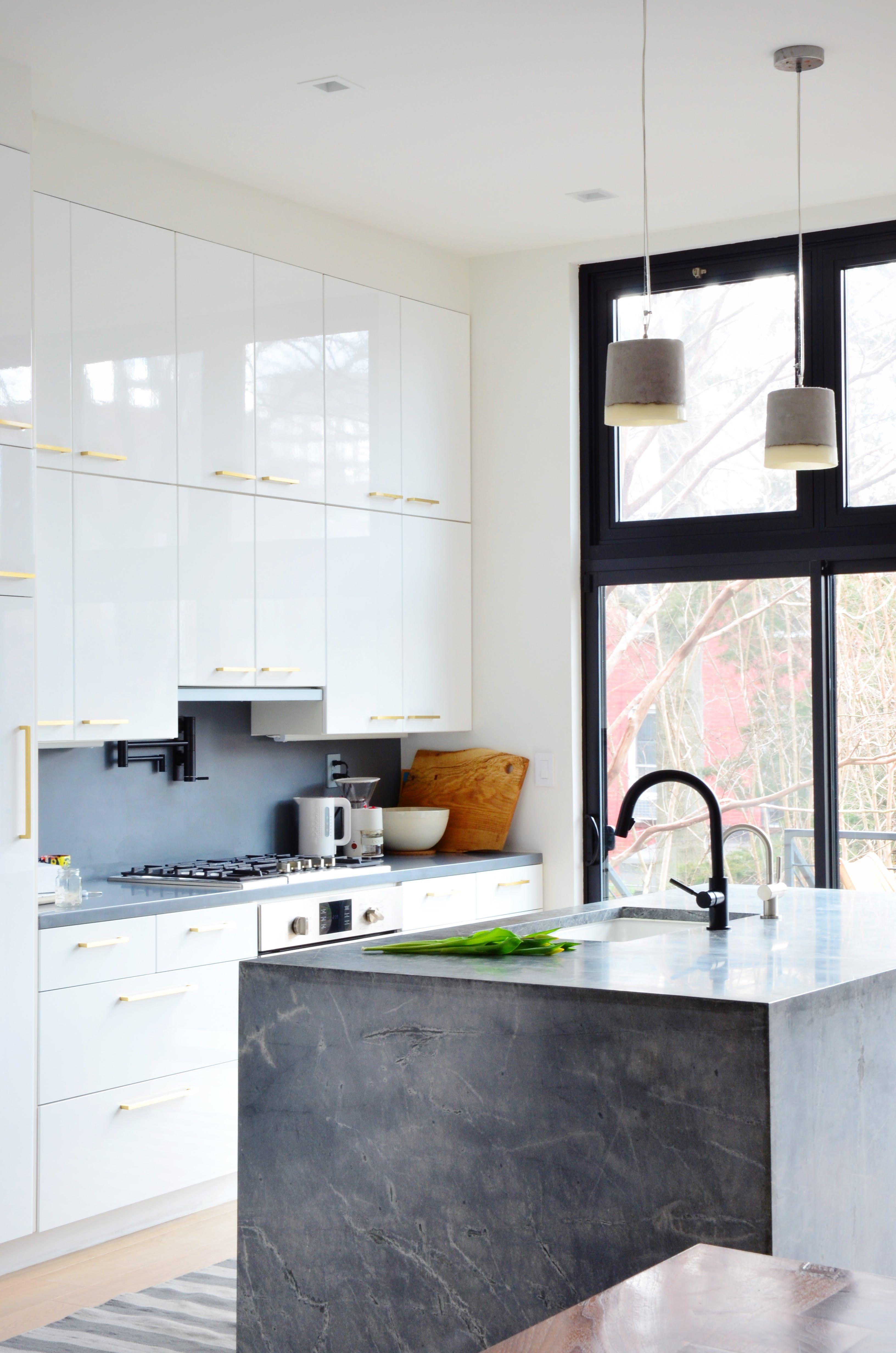 A Jaw Dropping Beautiful Modern Brooklyn Renovation Ikea Cabinets Ikea Kitchen Cabinets Ikea Kitchen Planning