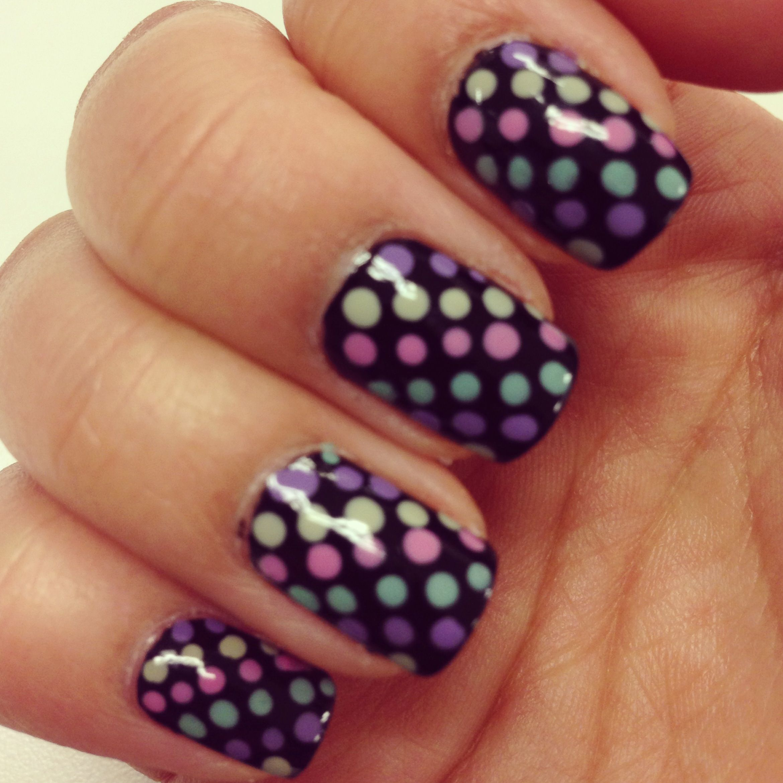 Multi colored polka dot