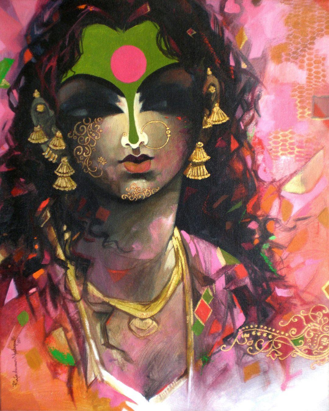 Female Beauty Indian Art Ideas Indian Art Online