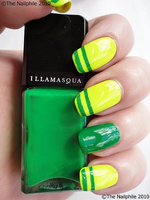 yellow and green #nailart | Nails | Pinterest | Amarillo, Verde y Copa