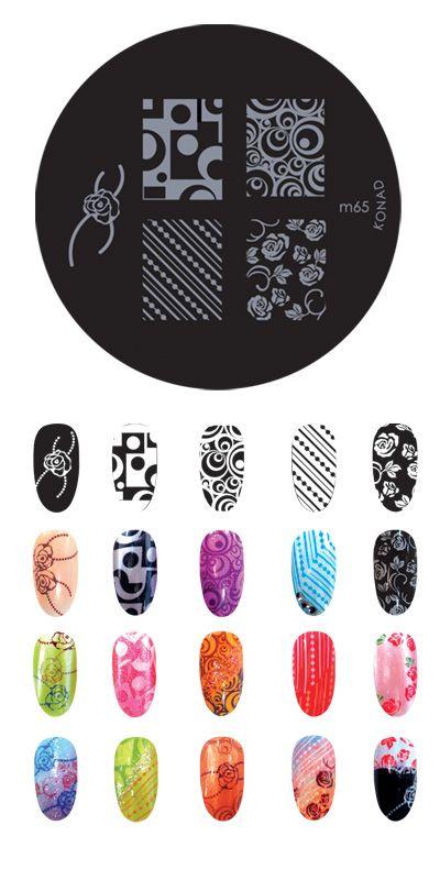Konad M65 Diseños De Uñas Estampadas Diseños De Uñas De