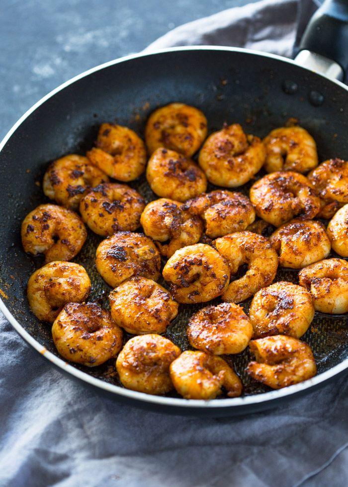 The Best 10 Minute Cajun Blackened Shrimp Recipe   Yummly #shrimprecipes