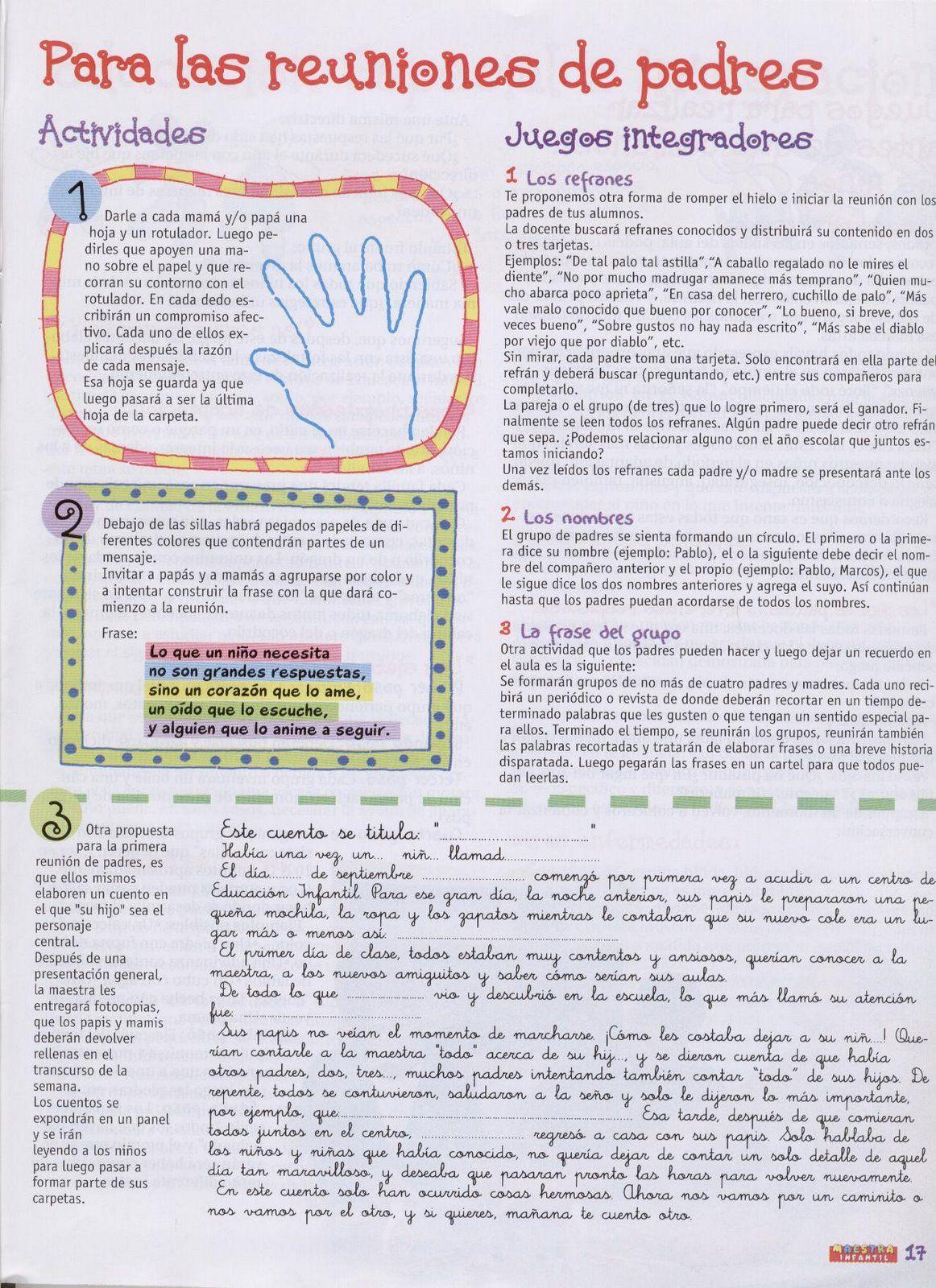 Reunión de padres para Nivel Inicial - Burbujitas | organització ...