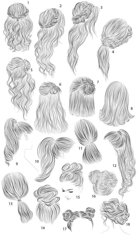 18 vector female hairstyles