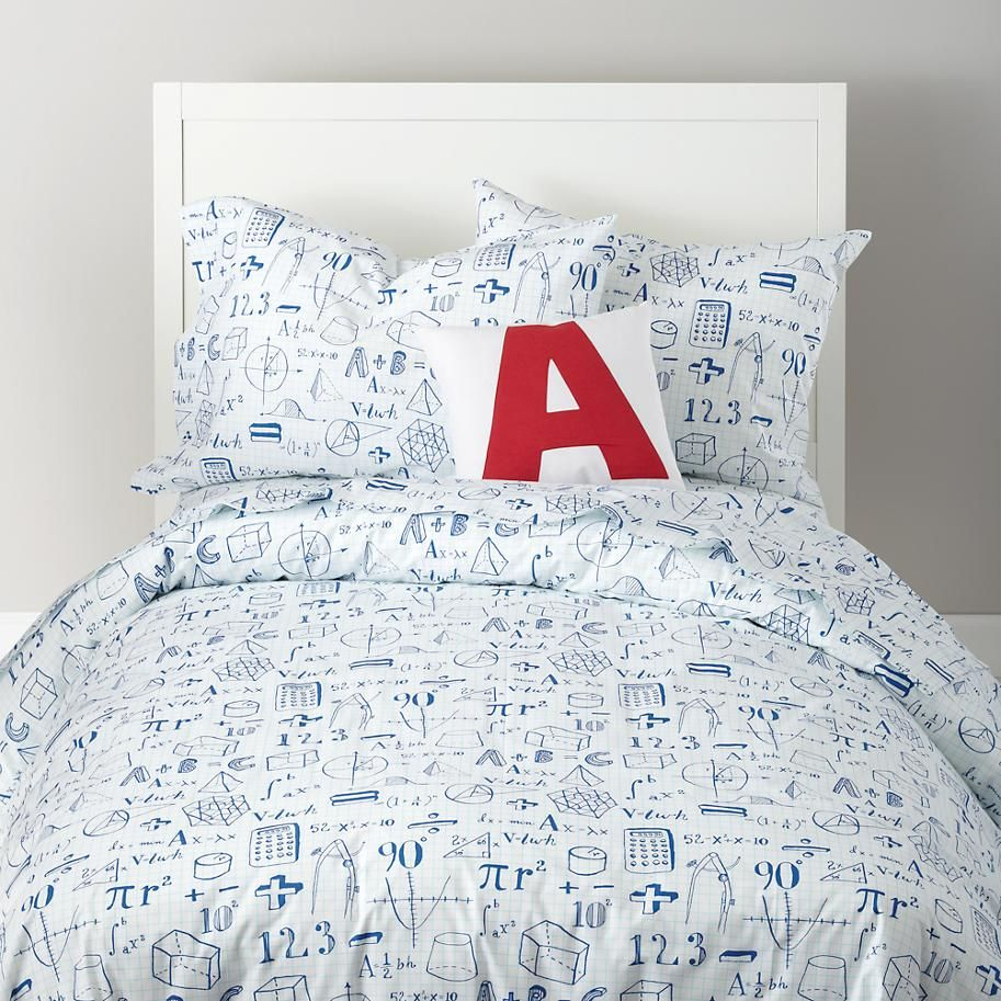 The Land of Nod | Kids Duvet Covers: Mathematical Equations Duvet