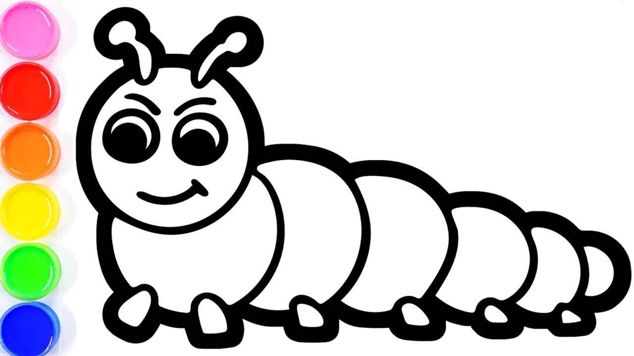 Coloring Cute Caterpillar For Toddlers Bedroom Coloring Page For
