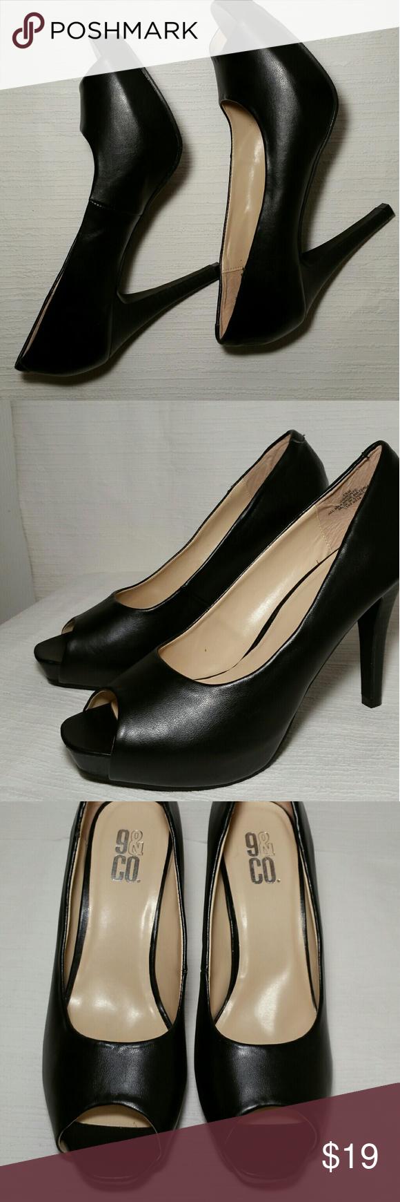 06d1d6312a57 JJBRONTE Women s shoe 9 Co women dress black shoe. Peep