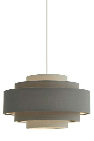Grey easy fit 5 tier lampshade £25 00 next