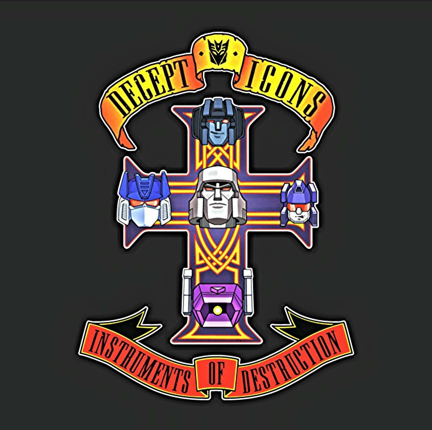 Transformers Bands: Transformers Decepticons Guns N Roses Tribute