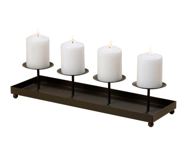 Portavelas para 4 velas en hierro pintado