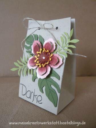 www.meinekreativwerkstatt.bastelblogs.de, Geschenktüte Botanical Blooms, Falz-und Stanzbrett für Geschenktüten, Stampin up