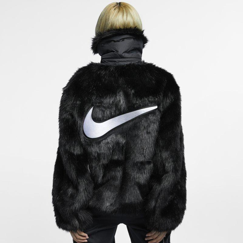 idiota Arqueólogo Metro  Nike x Ambush Women's Reversible Faux-Fur Coat - Black
