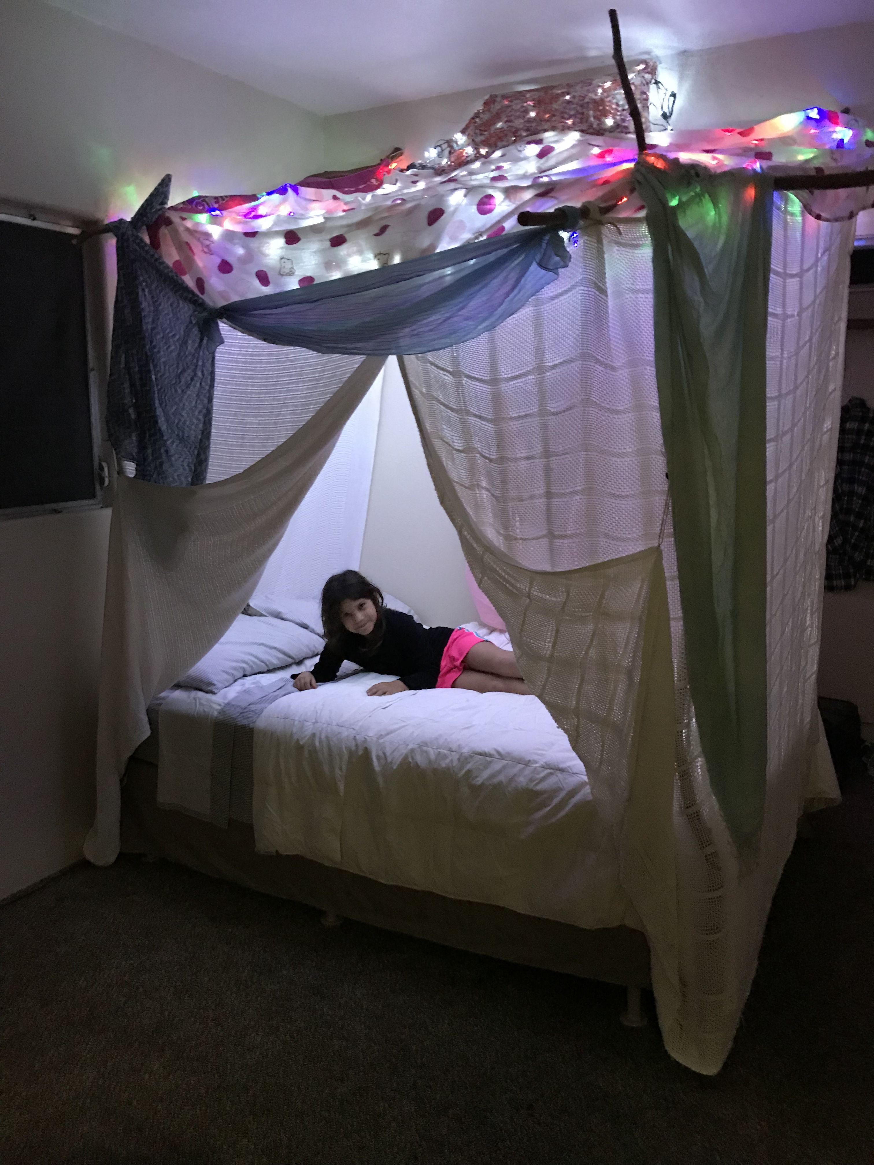 Amazing blanket fort Toddler bed, Blanket fort, Bed
