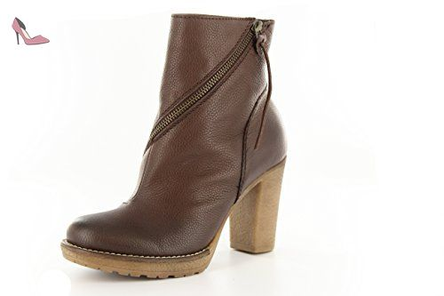 Donna Piu Chaussures de Ville à Lacets pour Femme Marron Marron foncé - Marron - Marron foncé, 40 EU EU