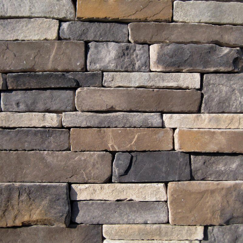 Square Stone Stacked Accent Wall: Southern Stacked Stone